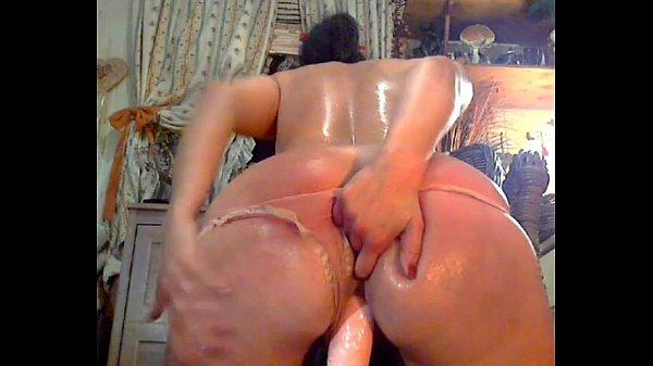 Austrian bubble butt riding dildo like cowgirl