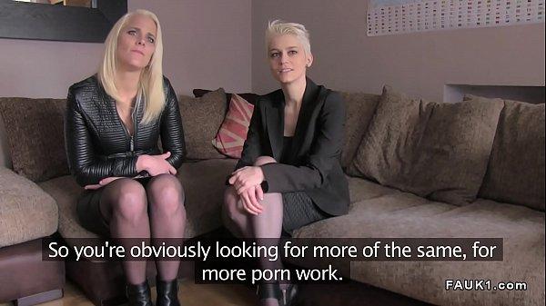 British fake agent bangs two blonde babes