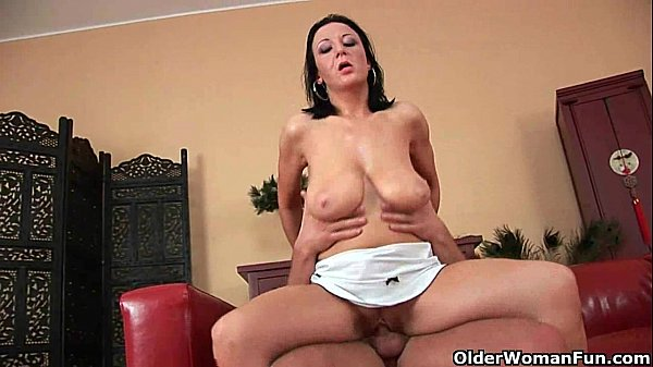 Busty milfs know how to unload a cock
