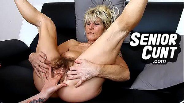 Closeups of very old hairy vagina of granny Linda