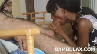 ebony teen amateur blowjob cum in mouth
