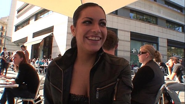 Flirting in the street with amazing latina
