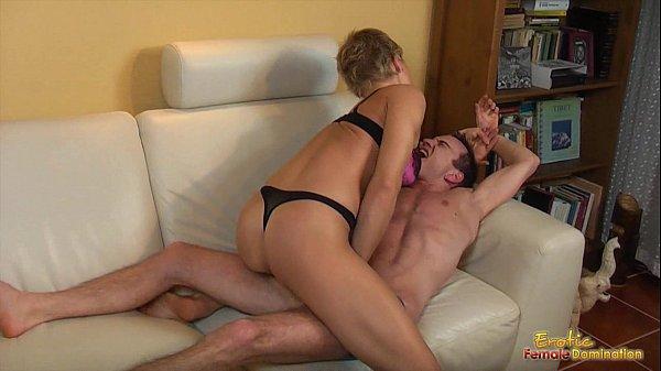 Hotwife full of muscle take control on her husband