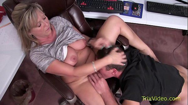 Mommy Son Caught at the Office
