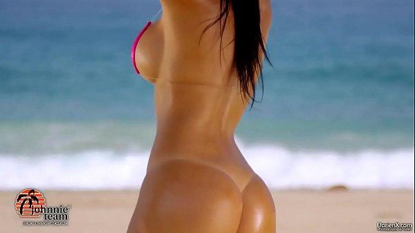 Sexy hot girl in bikini with big boobs and a big ass
