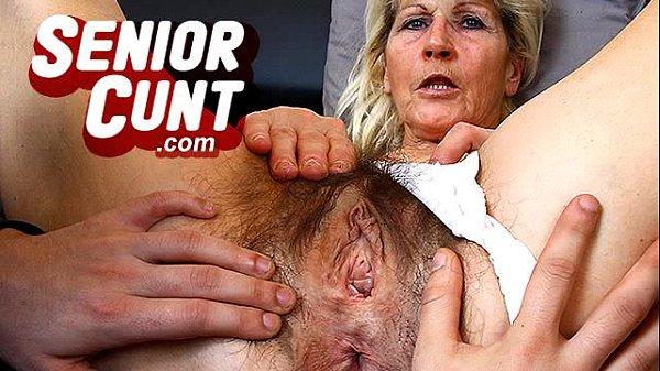 Up close pov old vagina fingering with mature Greta