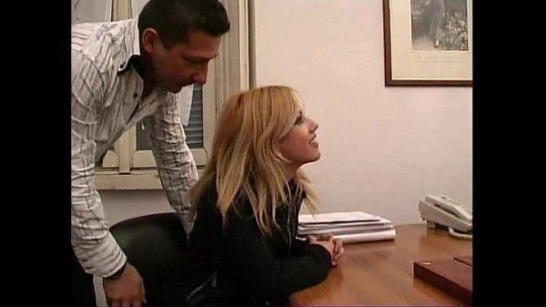 A cute blondie needing a job abused in a job interview