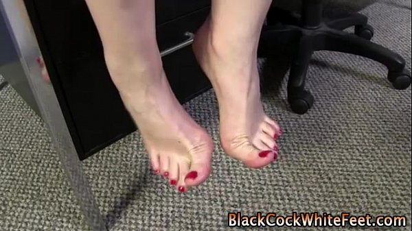Arched feet horny cock