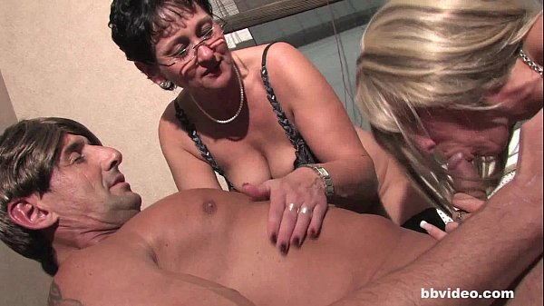 Bbvideo.com Bi german milfs shares cock