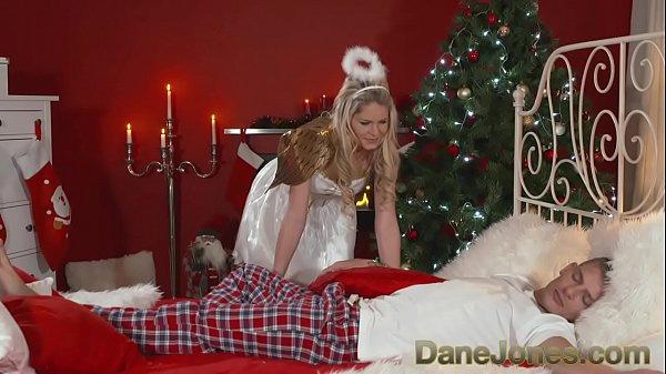 DaneJones Hot Xmas angel brings special present