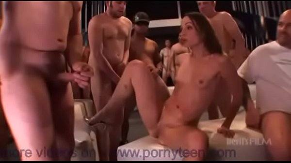 Hardcore gangbang action with hot mature