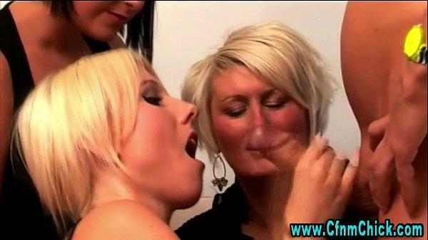 Horny cfnm femdom bitches