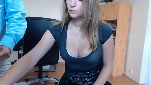 Hungarian slut caught masturbating at work
