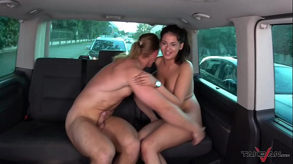 Hungarian slut take a ride with naughty stranger to get cum on ass hole