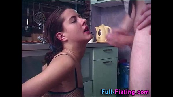 Sexy Teen In Stocking Spreads For Fisting