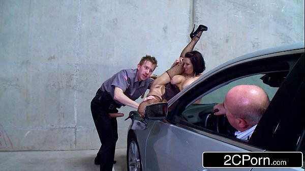 Slutty Parking Lot Exhibitionist Veronica Avluv Fucked by a Security Guard