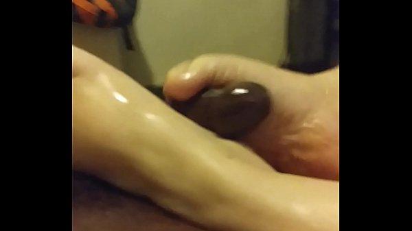 White feet on black cock